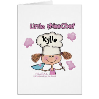 Little Miss Chef Personalize Greeting Card
