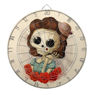 Little Miss Death and Roses Dartboard