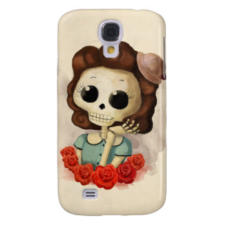 Little Miss Death and Roses Galaxy S4 Case