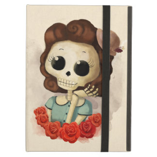 Little Miss Death and Roses iPad Air Case