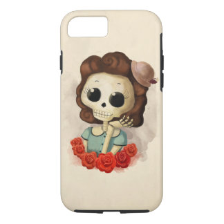 Little Miss Death and Roses iPhone 8/7 Case