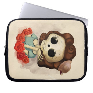 Little Miss Death and Roses Laptop Sleeve