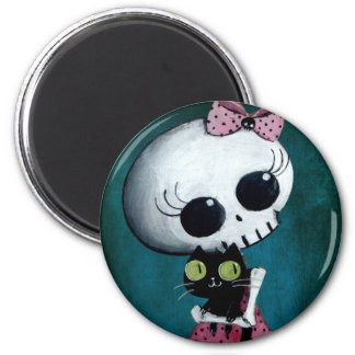 Little Miss Death - Halloween Beauty 6 Cm Round Magnet