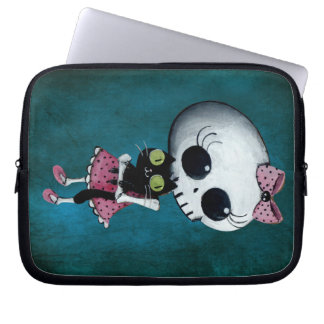 Little Miss Death - Halloween Beauty Computer Sleeve