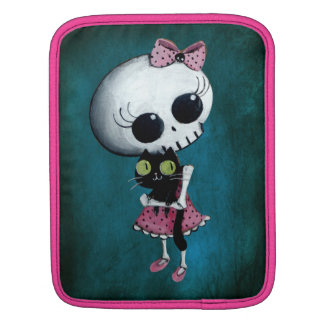 Little Miss Death - Halloween Beauty iPad Sleeve