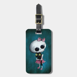 Little Miss Death - Halloween Beauty Luggage Tag