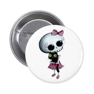 Little Miss Death - Hallowen Beauty 6 Cm Round Badge