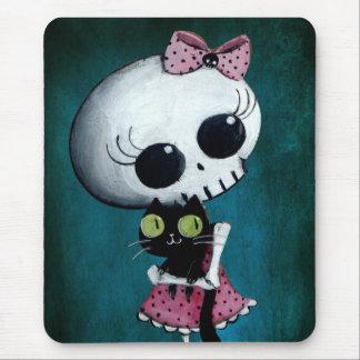 Little Miss Death - Hallowen Beauty Mousepads