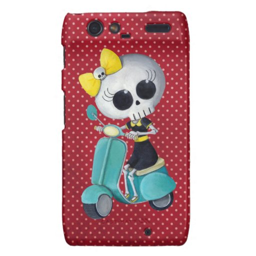 Little Miss Death on Scooter Motorola Droid RAZR Cover