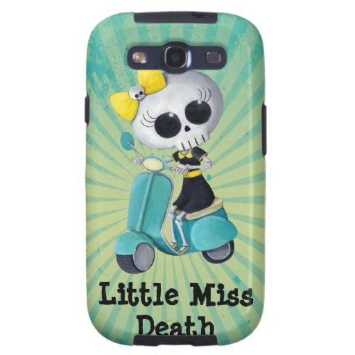 Little Miss Death on Scooter Samsung Galaxy S3 Cases
