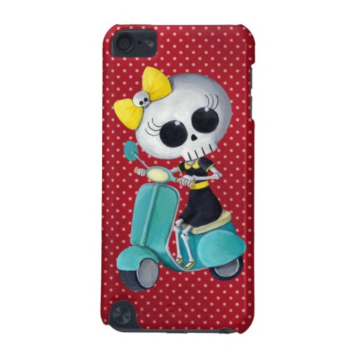 Little Miss Death on Scooter iPod Touch 5G Case