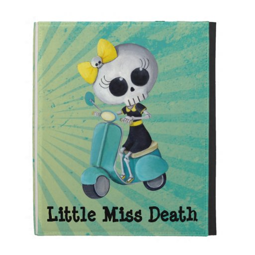 Little Miss Death on Scooter iPad Case