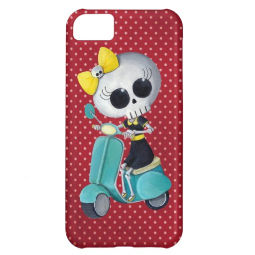 Little Miss Death on Scooter Cover For iPhone 5C