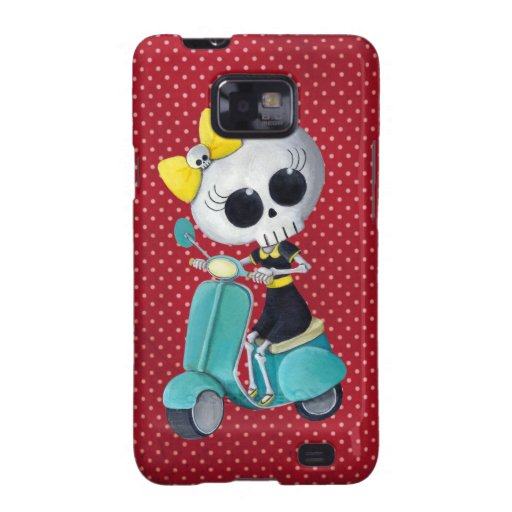 Little Miss Death on Scooter Samsung Galaxy S Cases