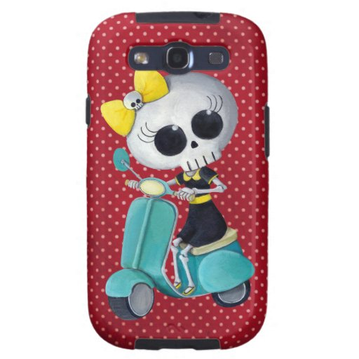 Little Miss Death on Scooter Samsung Galaxy SIII Cover