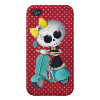 Little Miss Death on Scooter Case For iPhone 4