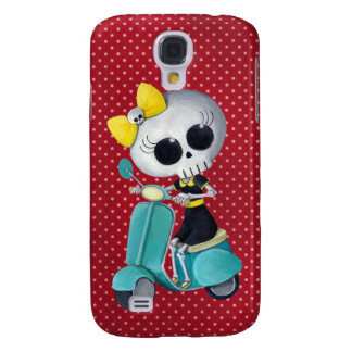 Little Miss Death on Scooter Galaxy S4 Case
