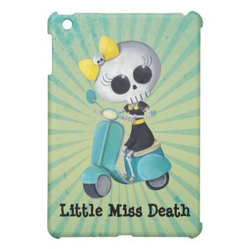 Little Miss Death on Scooter iPad Mini Cover