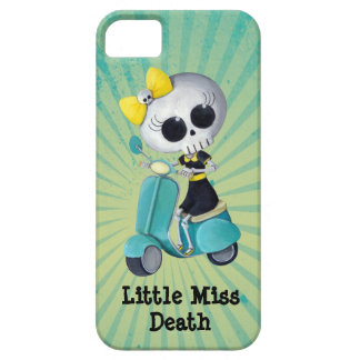 Little Miss Death on Scooter iPhone 5 Cover