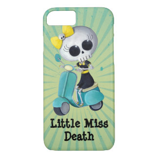 Little Miss Death on Scooter iPhone 8/7 Case