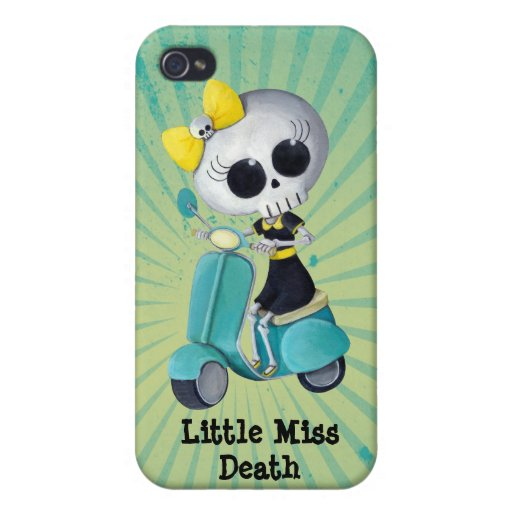 Little Miss Death on Scooter iPhone 4/4S Covers