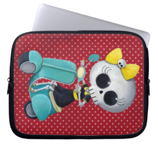 Little Miss Death on Scooter Laptop Sleeve