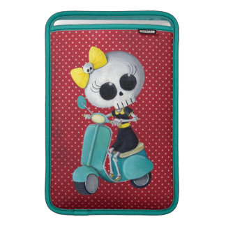 Little Miss Death on Scooter Sleeve For MacBook Air