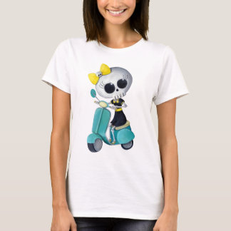 Little Miss Death on Scooter T-Shirt