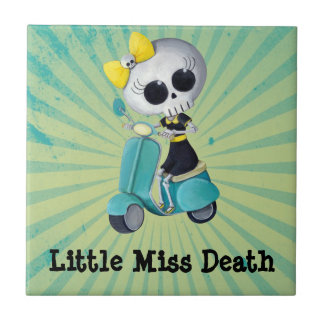 Little Miss Death on Scooter Tile
