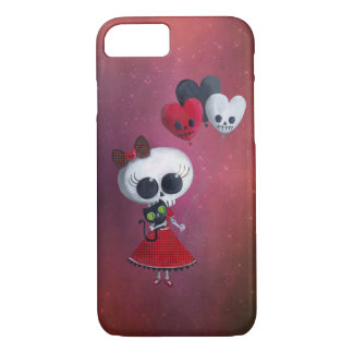 Little Miss Death Valentine Girl iPhone 8/7 Case