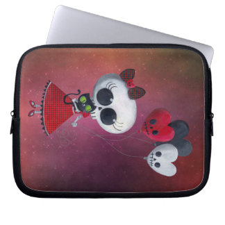 Little Miss Death Valentine Girl Laptop Sleeve