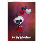 Little Miss Death Valentine Greeting Cards