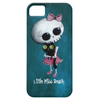 Little Miss Death with Black Cat Barely There iPhone 5 Case