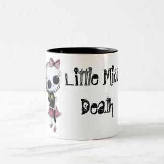 Little Miss Death with Black Cat Coffee Mug