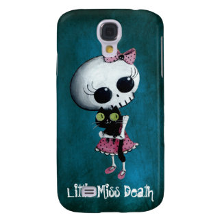 Little Miss Death with Black Cat Galaxy S4 Case