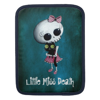 Little Miss Death with Black Cat iPad Sleeve