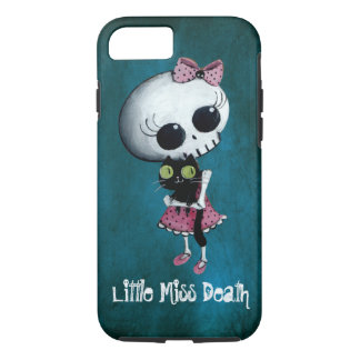 Little Miss Death with Black Cat iPhone 8/7 Case