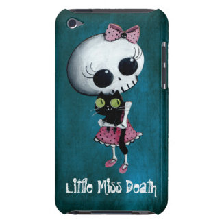 Little Miss Death with Black Cat iPod Touch Cases