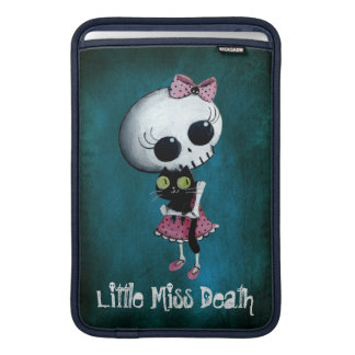 Little Miss Death with Black Cat Sleeve For MacBook Air