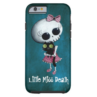 Little Miss Death with Black Cat Tough iPhone 6 Case