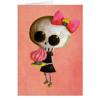 Little Miss Death with Cupcake Card