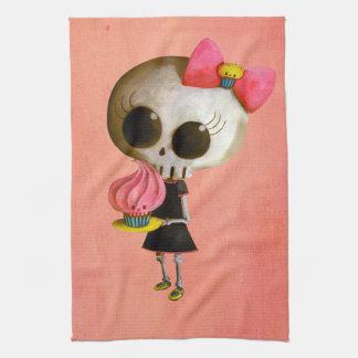 Little Miss Death with Cupcake Tea Towel