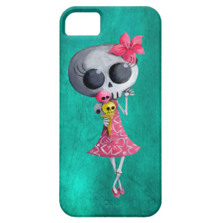 Little Miss Death with Halloween Ice Cream iPhone 5 Case