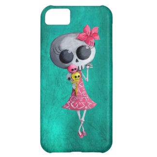 Little Miss Death with Halloween Ice Cream iPhone 5C Case