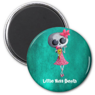 Little Miss Death with Halloween Ice Cream Magnet