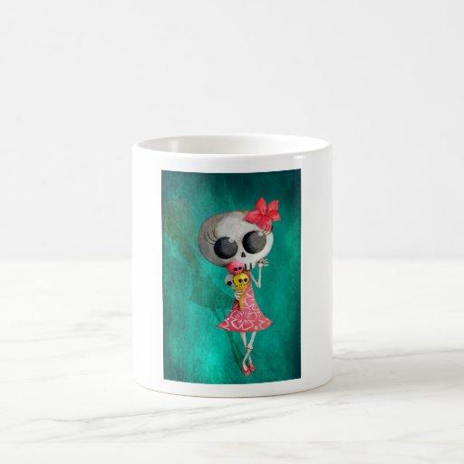 Little Miss Death with Halloween Ice Cream Mug