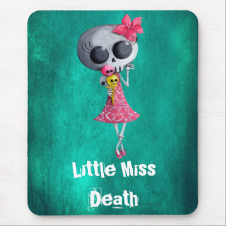Little Miss Death with Ice Cream -custom text- Mousemat
