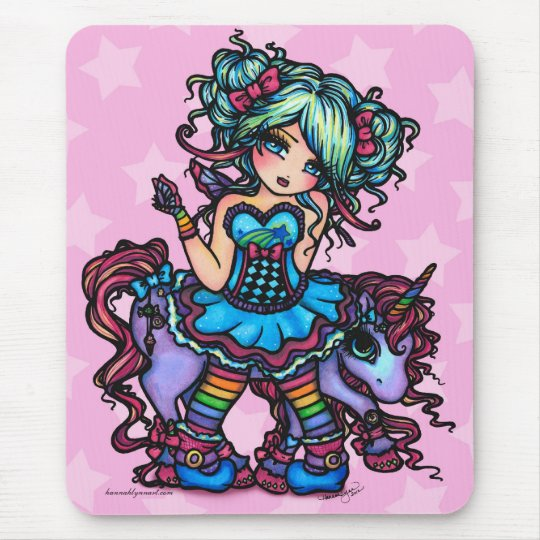 Little Miss Deelish Fairy Unicorn Princess Fantasy Mouse Pad