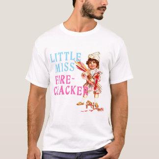Little Miss Firecracker Vintage Americana T-Shirt