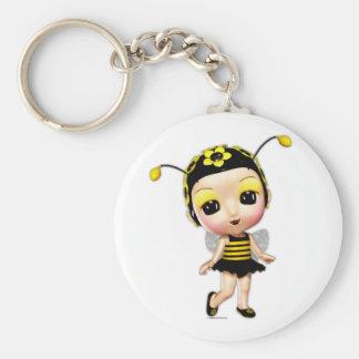 Little Miss Lady Bumblebee Keyring
